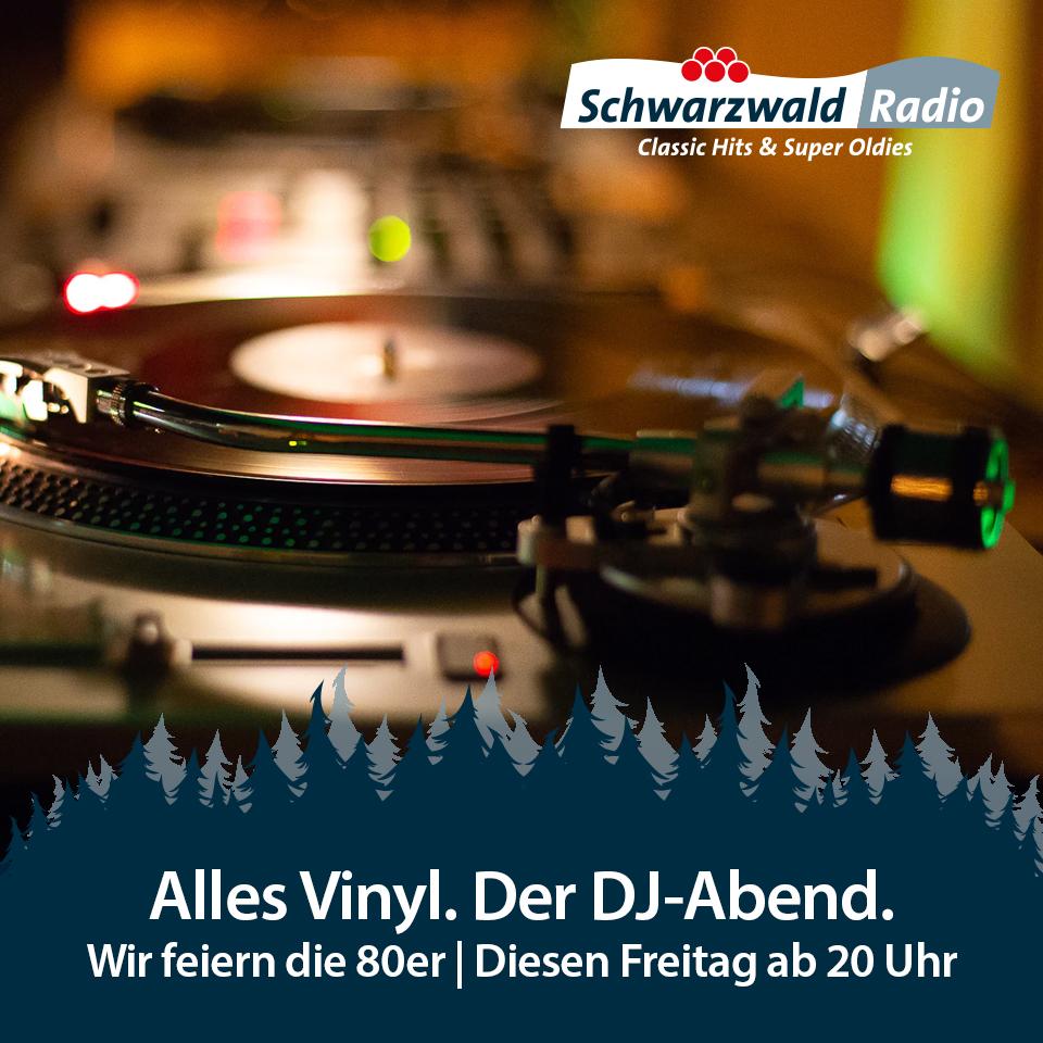 Schwarzwaldradio DJ Abend – komplett mit Vinyl