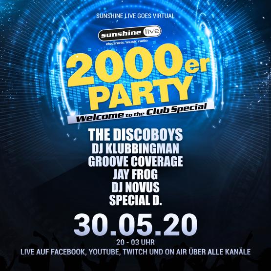 sunshine live feiert die virtuelle 2000er Party