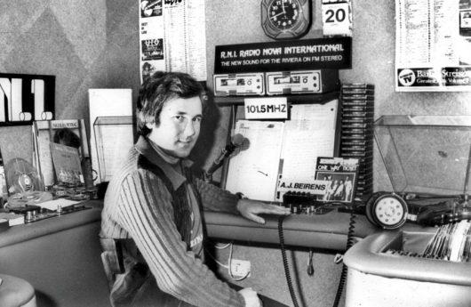 AJ Beirens 1976 bei Radio Nova International