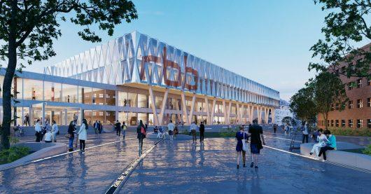 Architekturentwurf zum Digitalen Medienhaus (Bild: ©rbb/Baumschlager Eberle Architekten)