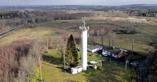 Drohnenfoto vom Senderstandort Kall-Krekel