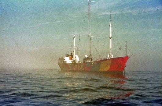 Radio Nordsee International (RNI) auf der Mebo II 1972