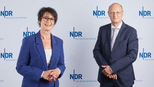 NDR Intendantin Andrea Lütke und Intendant Joachim Knuth (Bild: ©NDR/Hendrik Lüders)