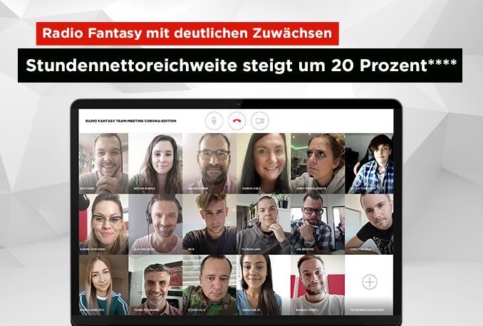 Funkanalyse Bayern 2020: Radio Fantasy mit deutlichen Zuwächsen