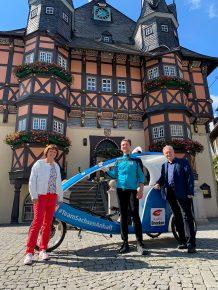 Ministerpräsident Dr. Reiner Haseloff und Ehefrau auf der Radio Brocken Sommertour 2020 mit Reporter Dennis Schubert (Bild: ©Radio Brocken)