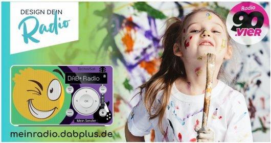 Design dein Radio mit 90vier-Logo (BIld: ©Digitalradio Büro Deutschland)