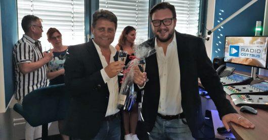 Stephan Schwenk und Ronny Gersch (Bild: ©Radio Cottbus)
