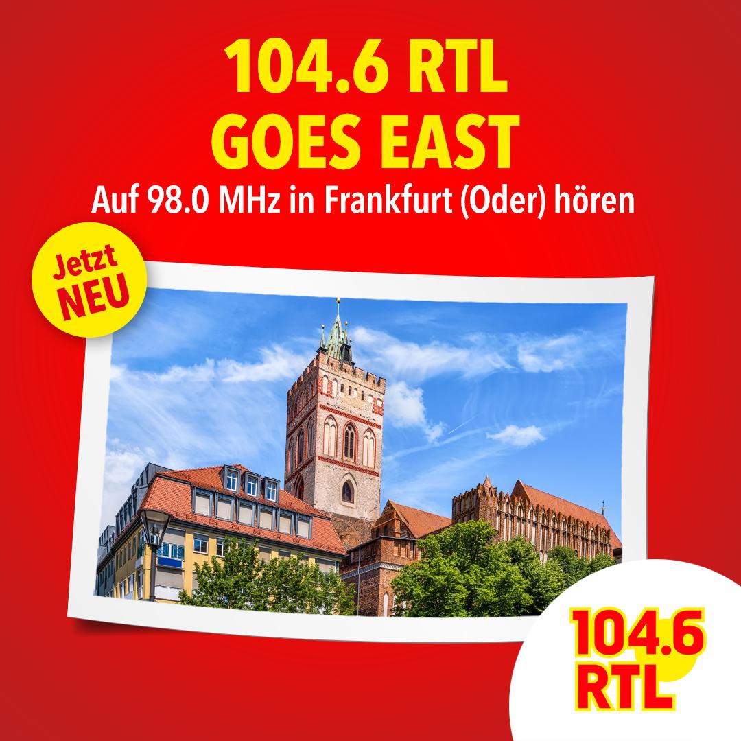 104.6 RTL Goes East auf 98.0 MHz in Frankfurt an der Oder