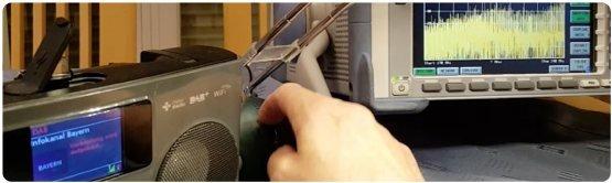 DAB+ Radioempfänger wird durch eine LED-Lampen gestört