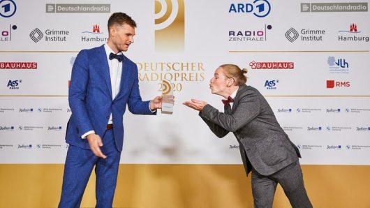"""Strobel und Vince von """"ENERGY Hood Hop"""" (Bild: ©Deutscher Radiopreis)"""