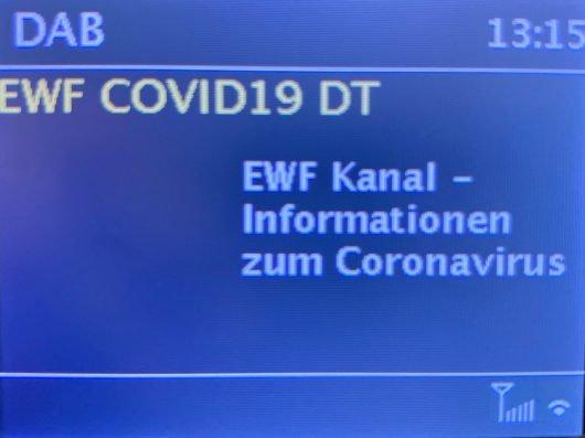 EWF-Warnkanal auf DAB+ in Österreich (Bild: ©RADIOSZENE)