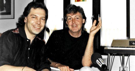 Paul McCartney und Christian Simon in Sussex 1991 (Bild: ©Monica Simon)