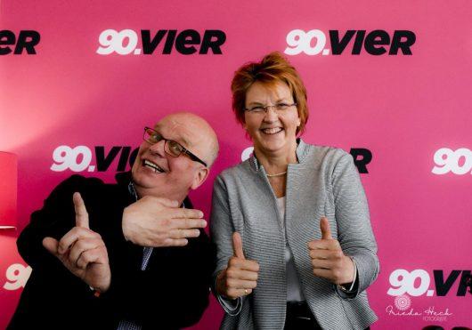 Juergen R. Grobbin und Susanne Mittag (Bild: ©90.VIER)