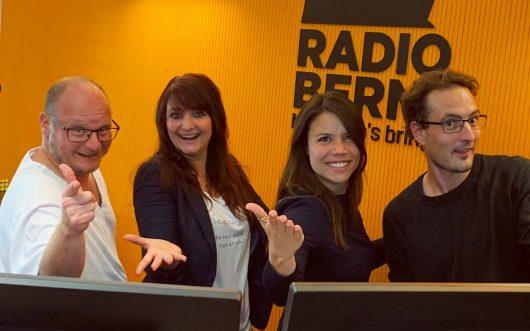 "Das ""Guete Morge Bärn""-Team (Bild: ©RADIO BERN1)"