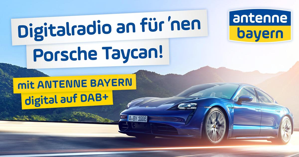 Digitalradio an für 'nen Porsche Taycan!