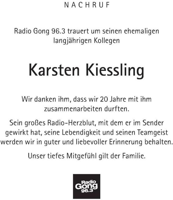 Karsten Kiessling Nachruf