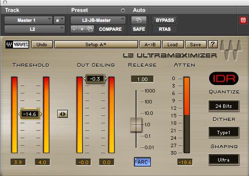 Beliebtes Plugin für Lautheit: Der L2 Ultramaximizer von Waves