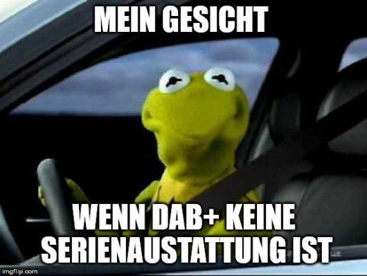 Mein Gesicht, wenn DAB+ Ausstattung keine Serienausstattung hat (Bild: Digitalradio Deutschland e.V.)