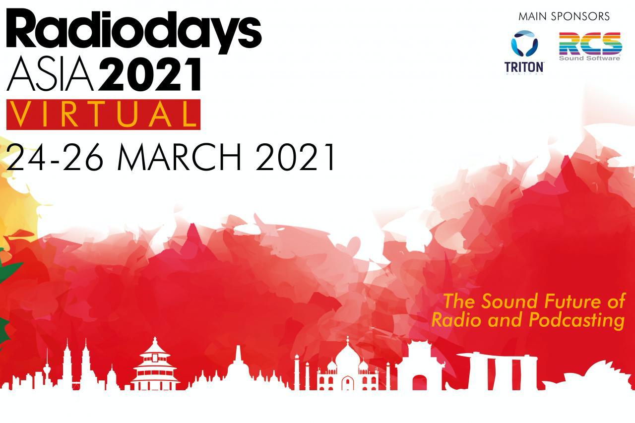 Radiodays Asia 2021 wird reines Online-Event