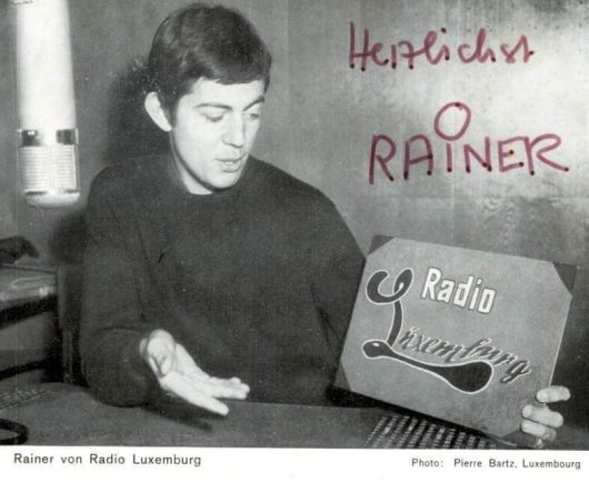 Rainer Nitschke (Autogrammkarte Radio Luxemburg)