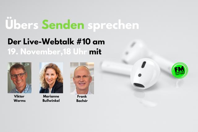 """""""Übers Senden sprechen"""" - der kostenlose Webtalk Viktor Worms spricht mit Marianne Bullwinkel und Frank Bachér/RMS"""