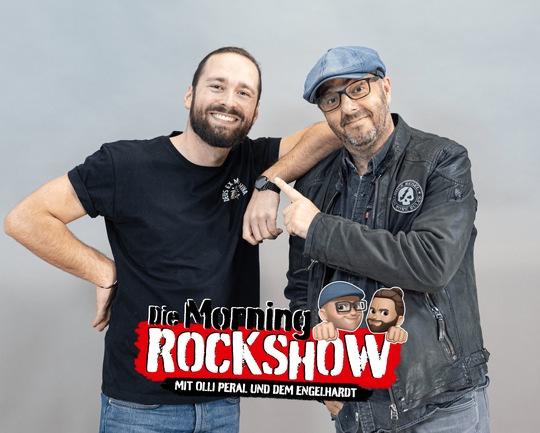 """Philipp Engelhardt alias """"der Engelhardt"""" und Olli Peral aus der Morning Rockshow (Bild: DSN)"""