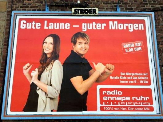 Radio Ennepe-Ruhr-Frühsendungsplakat (Bild: ©M. Schirmer)