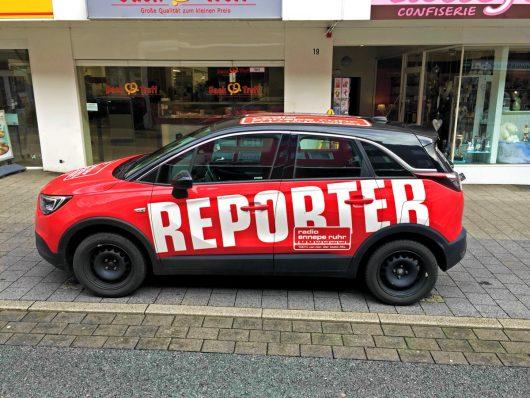 Reporterwagen von Radio Ennepe-Ruhr (Bild: ©M. Schirmer)