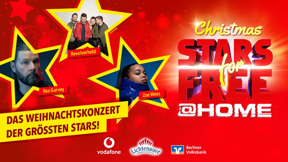 """Weihnachtskonzert: 104.6 RTL gibt Line-Up für erstes """"Christmas Stars for free @ home"""" bekannt"""
