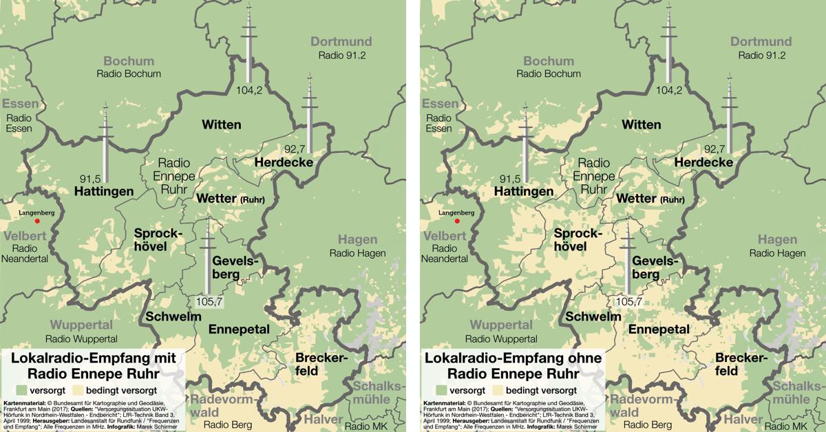 Lokalradio-Empfang mit und ohne Radio Ennepe-Ruhr