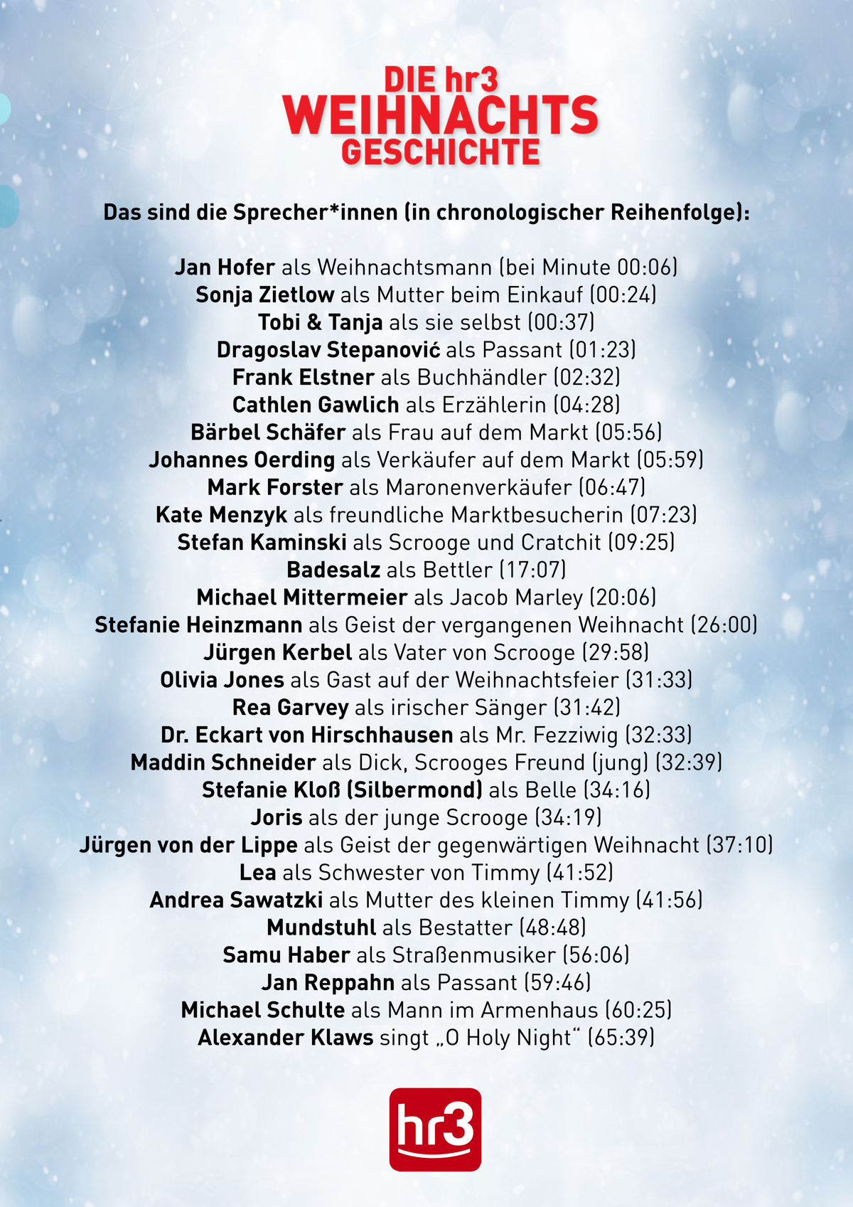 hr3-Weihnachtsgeschichte Sprecher*innen