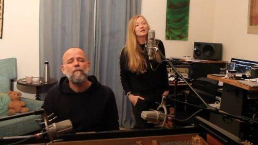 Lisa Wahlandt und Martin Kälberer bei der Aufnahme eine Homerecording-Konzerts für Bayern 2. (Bild: ©Lisa Wahlandt)
