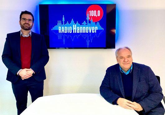 Benjamin Kahnt und Martin Wöbbeking (Bild: Radio Hannover)