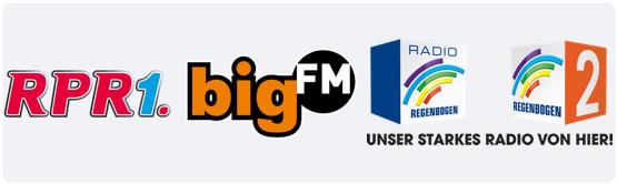 Radio RPR, Radio Regenbogen und bigFM