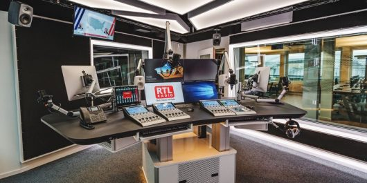 Neues RTL Radio-Studio (Bild: @RTL Audio Center Berlin)