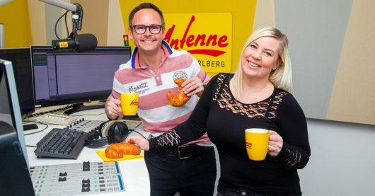 Sandra und Veithi vom ANTENNE VORARLBERG-Frühstücksradio