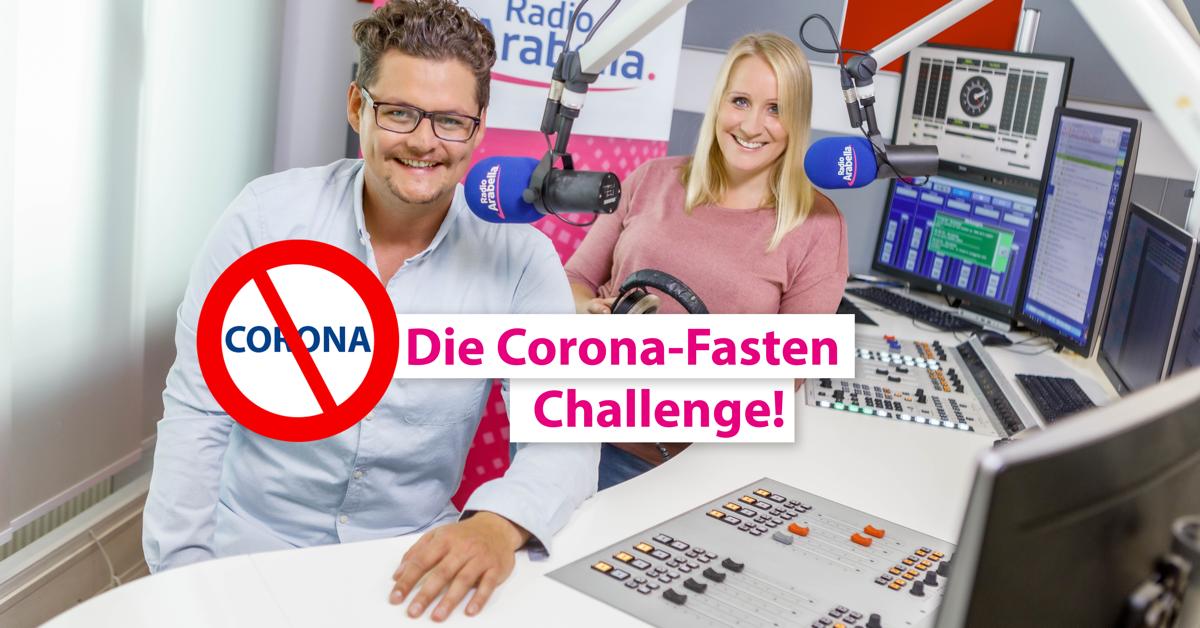 """Die Morgenmoderatoren Anja und der Morgenhuber von Radio Arabella München starten eine besondere Fasten-Challenge.Ab sofort werden sie """"CoronaFasten"""": Bis Ostern wollen die beiden nicht mehr das Wort """"Corona"""" im Radio sagen."""