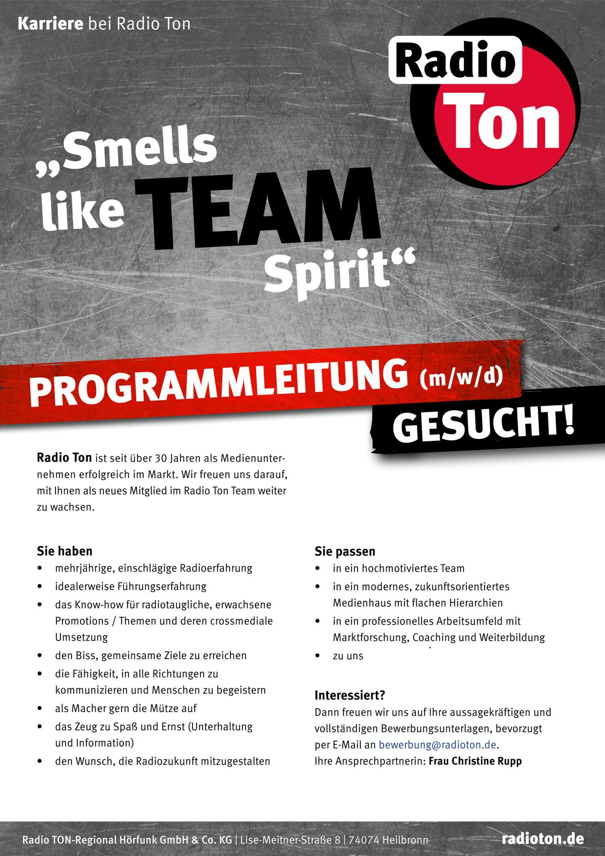 Radio Ton sucht Programmleitung (m/w/d)