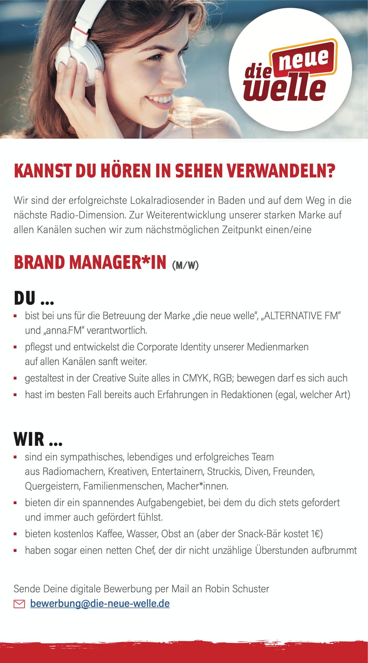 die neue welle sucht Brand Manager*in (m/w)