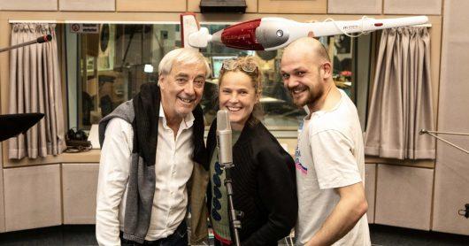 """ARD Radio Tatort: Du hast mich nie geliebt"""", v. li.: Ueli Jäggi (Xaver Finkbeiner), Karoline Eichhorn (Nina Brändle), Matti Krause (Sieger) (Bild: © SWR/Thorsten Hein)"""
