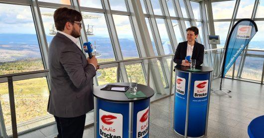 Radio Brocken-Gipfeltreffen mit Lydia Hueskens (FDP)