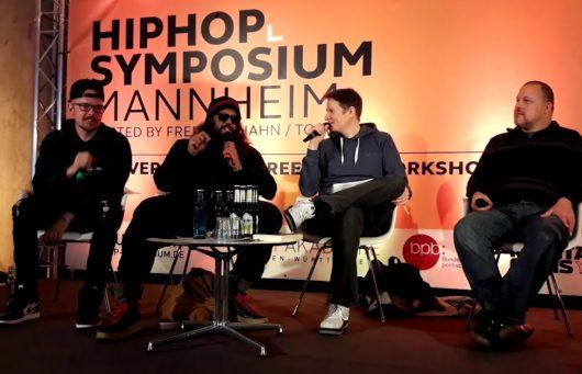 HipHop-Symposium an der Popakademie Mannheim 2018 mit Jan Delay, Samy Deluxe, Falk Schacht, Torch)