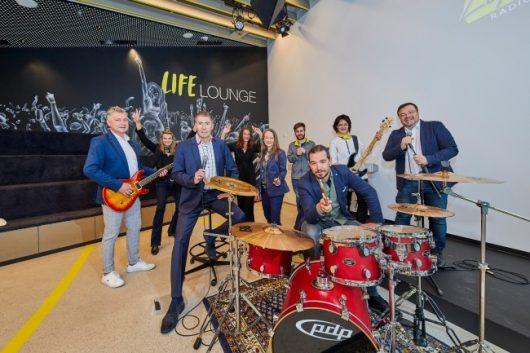 Die Life Radio Teamleiter in der neuen Life Lounge (Bild: ©Erwin Wimmer)