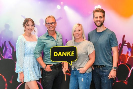 Nina Früh, Martin Veith, Sandra Tasek, Bernd Tomaselli (Bild: ©ANTENNE VORARLBERG)