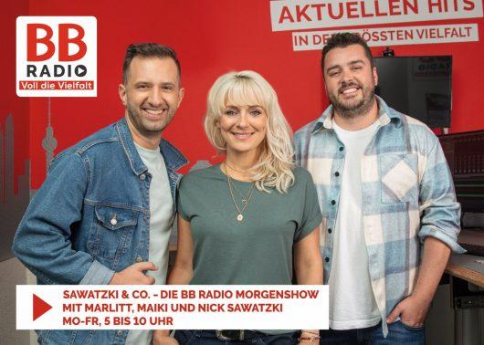 v.l.n.r.: Nick Sawatzki, Marlitt und Maiki (Bild: BB RADIO)