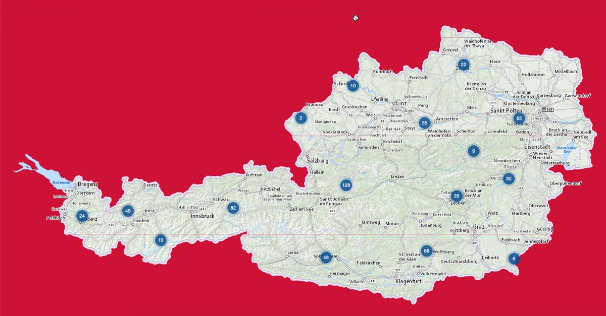Neu: Interaktive Landkarte für Antennenempfang in Österreich online