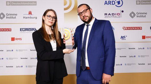 Laura Mertens und Jens Voss von Radio Wuppertal (Bild: ©Deutscher Radiopreis/Morris Mac Matzen)